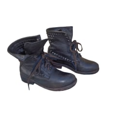 Bottines & low boots motards ASH Noir