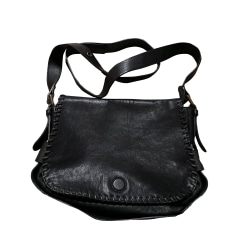 Leather Shoulder Bag GERARD DAREL Black