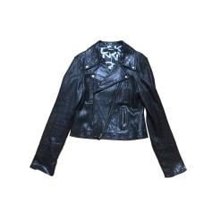 Blouson en cuir DKNY Noir