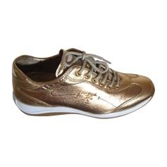 Sneakers PRADA Golden, bronze, copper