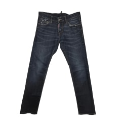 Jeans slim DSQUARED2 Bleu, bleu marine, bleu turquoise