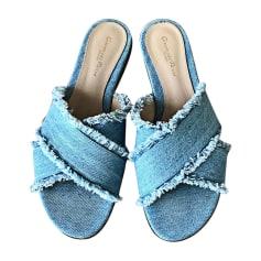 Slippers GIANVITO ROSSI Blau, marineblau, türkisblau
