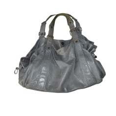 Leather Handbag GERARD DAREL Gray, charcoal