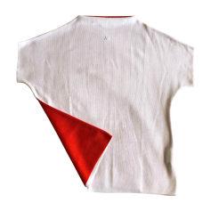 Top, T-shirt COURRÈGES White, off-white, ecru