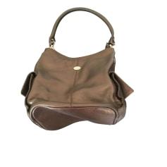 Leather Shoulder Bag MAC DOUGLAS Golden, bronze, copper