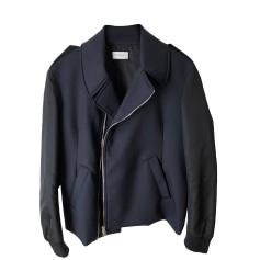 Leather Zipped Jacket MELINDA GLOSS Blue, navy, turquoise