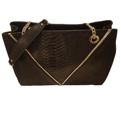 Leather Shoulder Bag COSMOPARIS Black