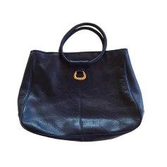 Leather Handbag LE TANNEUR Blue, navy, turquoise