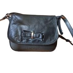 Leather Shoulder Bag LANCASTER Black