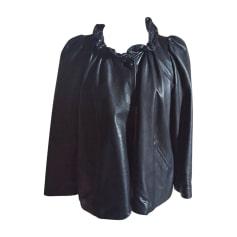 Veste en cuir ISABEL MARANT Noir