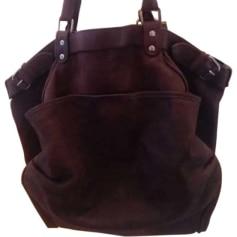 Leather Handbag VANESSA BRUNO Brown