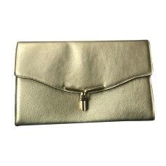 Leather Shoulder Bag LE TANNEUR Golden, bronze, copper