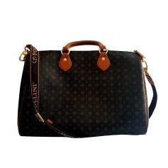 Leather Shoulder Bag POLLINI Black