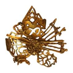 Spilla CHRISTIAN LACROIX Dorato, bronzo, rame