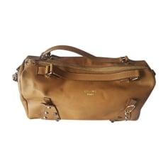 Leather Handbag CÉLINE Beige, camel