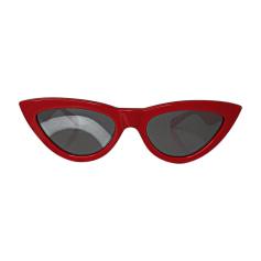Sunglasses CÉLINE Red, burgundy