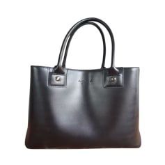 Leather Handbag AGNÈS B Black