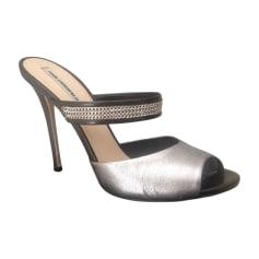 Sandales à talons KARL LAGERFELD Argenté, acier