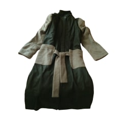 Manteau en cuir CACHAREL Vert