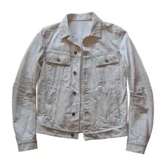 Giubbotto di jeans BALMAIN Bianco, bianco sporco, ecru