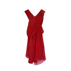 Robe mi-longue THE KOOPLES Rouge, bordeaux