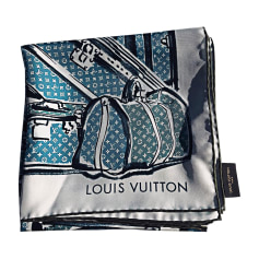 Silk Scarf LOUIS VUITTON Blue, navy, turquoise