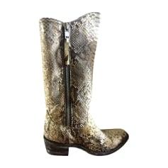 Santiags, bottes cowboy MEXICANA Blanc, blanc cassé, écru