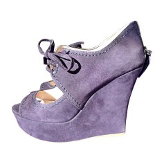 Wedge Sandals MIU MIU Purple, mauve, lavender