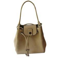 Leather Shoulder Bag LANCASTER White, off-white, ecru