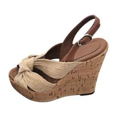 Sandales à talons DOLCE & GABBANA Beige, camel