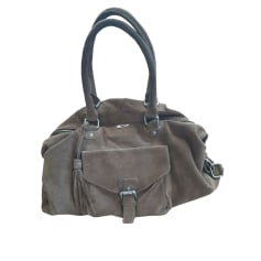 Leather Handbag IKKS Khaki
