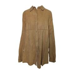 Leather Jacket ROBERTO CAVALLI Beige, camel