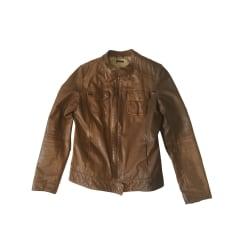 Leather Jacket IKKS Brown