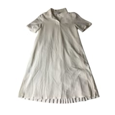 Midi Dress LACOSTE White, off-white, ecru