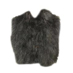 Fur Sleeveless Vest GEORGES RECH Black