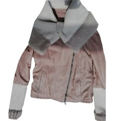 Leather Jacket PATRIZIA PEPE Brown