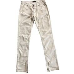 Jeans slim MAJE Beige, camel