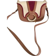Leather Shoulder Bag SEE BY CHLOE Nougat beige violet