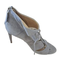 Peep-Toe Pumps RALPH LAUREN Gray, charcoal