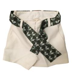 Shorts MAJE White, off-white, ecru
