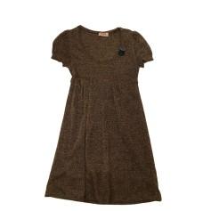 Midi Dress EROTOKRITOS Golden, bronze, copper