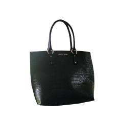 Leather Handbag ARMANI JEANS Black