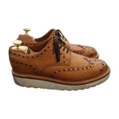 Lace Up Shoes GRENSON Beige, camel