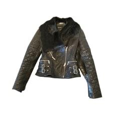 Leather Jacket KAREN MILLEN Black