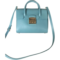 Leather Handbag FURLA Turquoise
