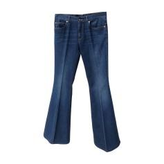 Jeans très evasé, patte d'éléphant GUCCI Bleu, bleu marine, bleu turquoise