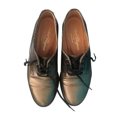 Lace Up Shoes ROBERT CLERGERIE Golden, bronze, copper