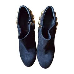 Santiags, bottines, low boots cowboy GUCCI Noir