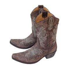 Stivali a punta, stivali cowboy MEXICANA Marrone