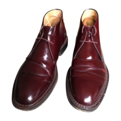 Lace Up Shoes KENZO Red, burgundy